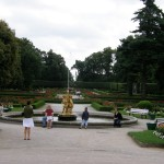 Kozłówka - fontanna iklomb ztyłu